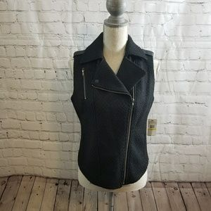 NWT Jessica Simpson Jamie Tweed Moto Vest~ size M